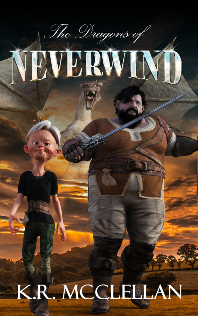 Tentative cover for The Dragons of Neverwind.